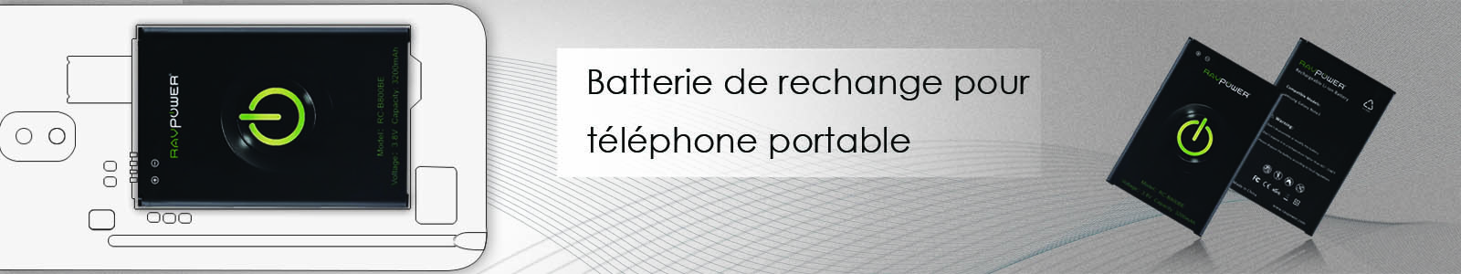Ravpower batteries de remplacement - Parkside batterie de rechange ...