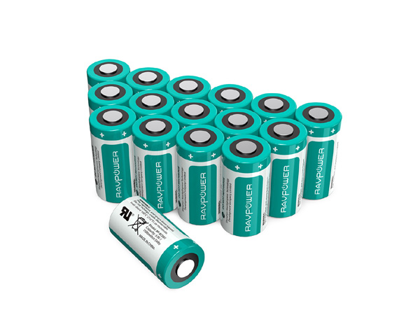 Batterie Lithium CR123A RAVPower 16-Pack